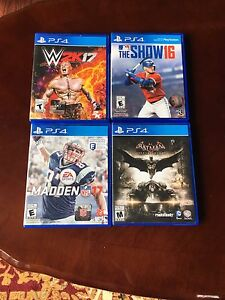 PS4 Games All In Great Condition