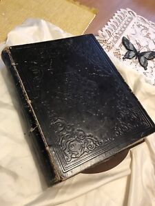 """Antique Historical 1871 """"SECORD"""" Family Bible"""