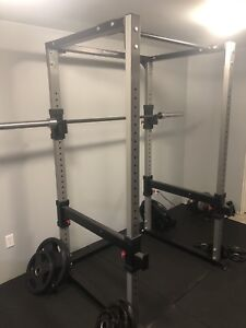 Power Rack with Barbell & Plates