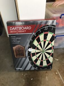 Dartboard with cabinet Macquarie Links Campbelltown Area Preview