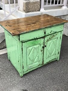 Rustic Barnboard Factory Workbench - Table with Drawer