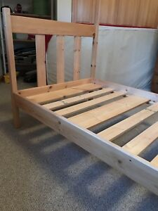Pine IKEA single bed