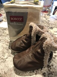Robeez Leather Booties 12-18 months