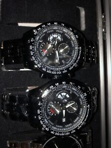 2 WATCHS ALL-BLACK