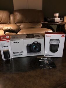Canon 80D 18-135 IS USM KIT brand new NEVER BEEN USED