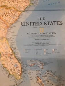 USA United States Map National Geographic