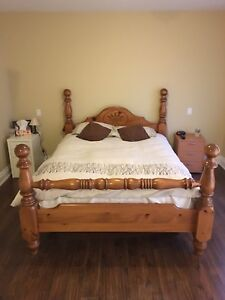 Queen Size Bed Frame - Solid Wood