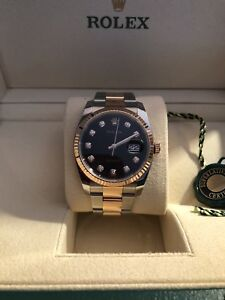 Authentic Rolex with 18K Rose Gold And 10 Diamonds