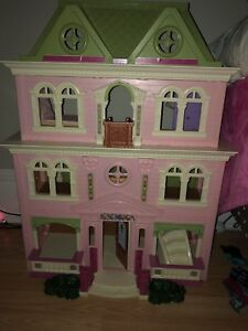 Fisher price doll house with accessories