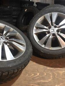 4 Winter tires on Honda wheels