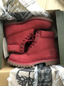 Red mens Timberland work boots in box Size: 10 Price: $180