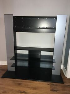 TV stand with flat screen mounting feature