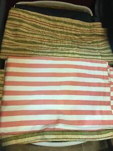 Lot of 10 curtain and pillow fabric $30