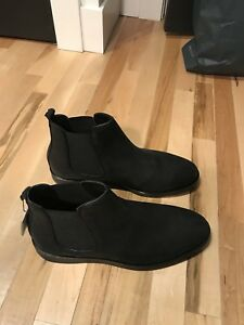 Zara Mens Leather Chelsea Boots Size 12 / 45