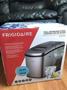 New Ice Maker: Frigidaire Stainless Steel Counter Top Ice Maker