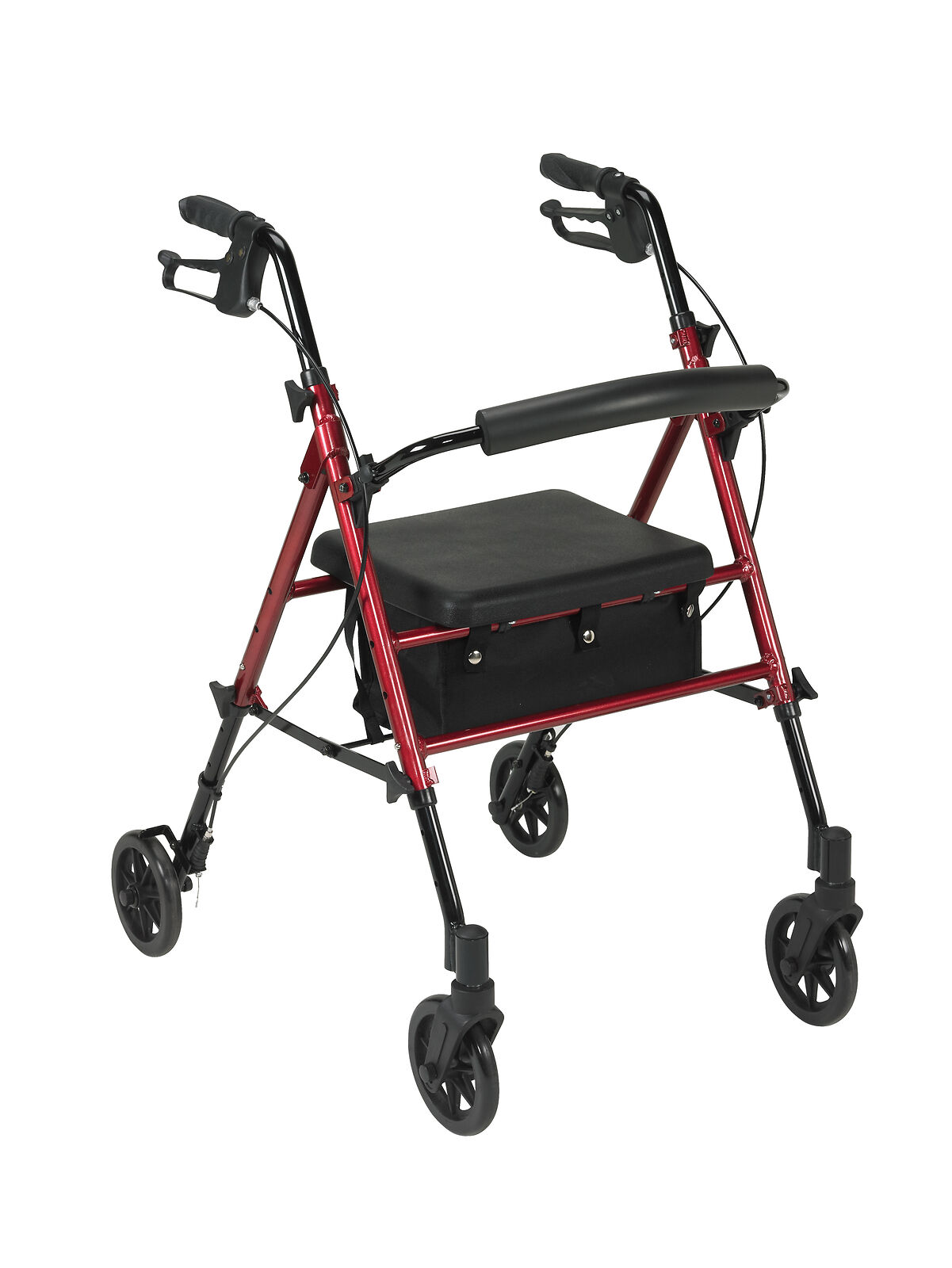 medical adjustable height rollator blue 6 inches
