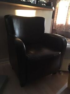Faux Leather Accent  Chair
