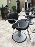 Hair styling chairs one year old
