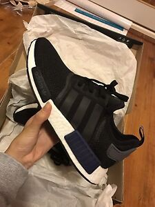 DS NEW ADIDAS NMD R1 BLACK BLUE MENS US 9.5 Burwood Burwood Area Preview