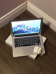 "Early 2014 Macbook air 13.3"" 1.4ghz i5, 128gb ssd, 4gb ram."