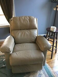 Leather recliner. SOLD