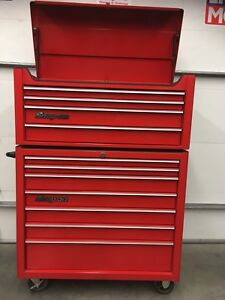 Snap On top and bottom toolbox