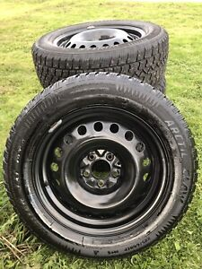 4 winter 225/60r 17 tires on steel 5x114.3. Very little use