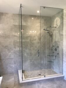 FRAMELESS SHOWER GLASS DOORS ENCLOSURES MIRRORS OFFICE PARTITION