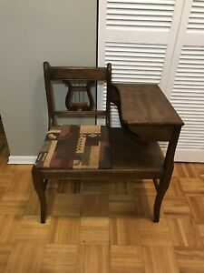 DUNCAN PHYFE ANTIQUE TELEPHONE TABLE