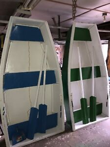 8 Ft Handcrafted Wooden Boat with matching oars