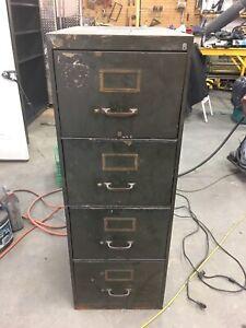 Old Metal Filing Cabinet.