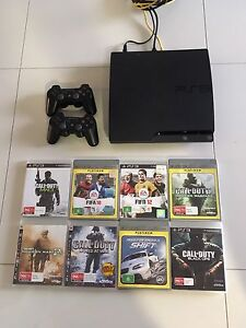 PlayStation 3 with 2 Contollers, 8 games, and leads inc Glenmore Park Penrith Area Preview