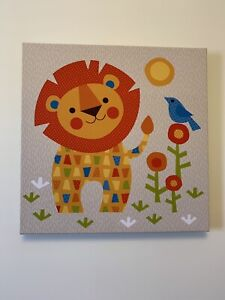 Print on canvas like decor for Nursery Lion, Tiger orTurle