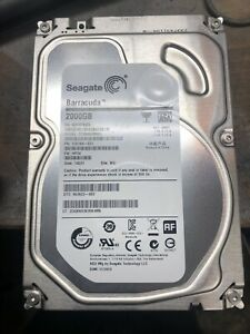 2TB barracuda Seagate hard drive