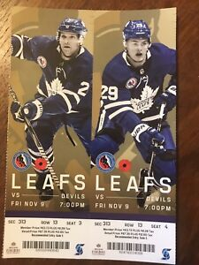 Leafs tickets for November 9 2018 NJ Devils