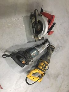New skilsaw and 2 sawsalls, all working. $50