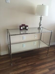 Almost New Glass & Mirrored Entryway Table