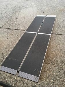 Portable access ramp. Rated for electric wheelchair