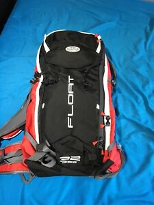 BCA float airbag backpack and ice axe.