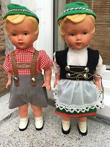 Vintage Tyrol Sweetheart Wind Up Dancing Dolls