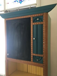 Kids Blackboard With Bookshelf And Drawers Bookcase Display Unit
