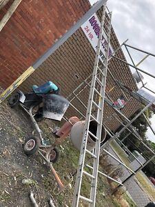 Scaffolding ladders.