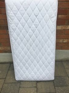 Crib mattress with protective cover and 5 crib sheets
