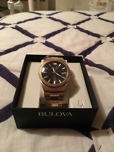 Gold Plated stainless steal Bulova watch