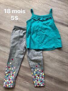 Vêtements fille 18 24 mois 2T