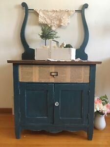 Antique washstand painted