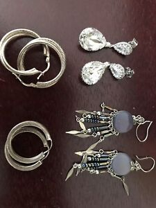 Assorted jewelry - mostly sterling silver