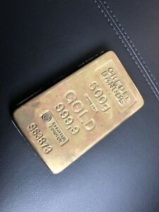 Vintage Gold bar paperweight, collection.