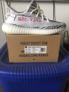 Adidas Yeezy Boost 350 Zebra w/Box Sz 10.5