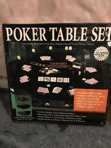 Folding poker table with chips